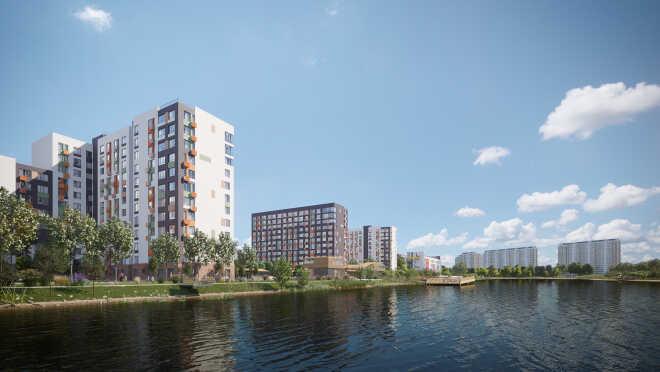 Город-парк «Переделкино Ближнее» Квартиры у пруда с собственной